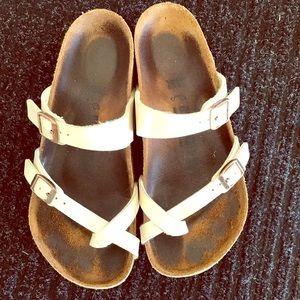 Ivory Birkenstock's Sandals